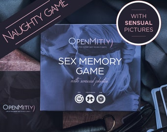 Sex card game with sensual photos sexy gift for boyfriend. Game cards can be used also as sex coupons