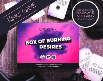 Sexy Game with Erotic Paintings. Box of Burning Desires. Valentines gift for him.