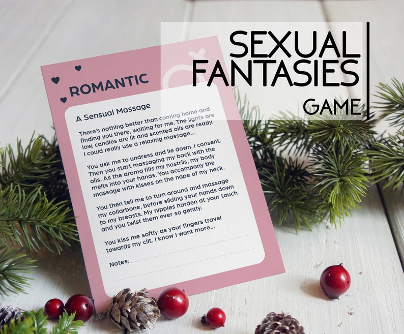 Sexual Fantasies Game printable game for couples image 0