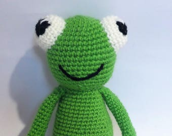 READY TO SHIP, Amigurumi Frog, Crochet Frog, Crochet Toy, Crochet Doll, Handmade Toy, Gift, Amigurumi Toy, Made to Order Toy, Plush Toy,