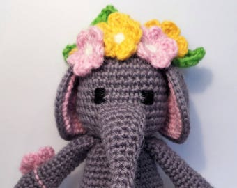 Amigurumi Elephant, Crochet Elephant, Crochet Toy, Handmade Elephant Toy, Amigurumi Toy, Made to Order Toy, Stuffed Toy,