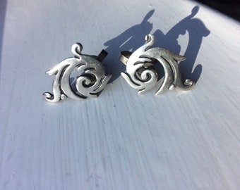Vintage Mexican silver earrings by Maricela