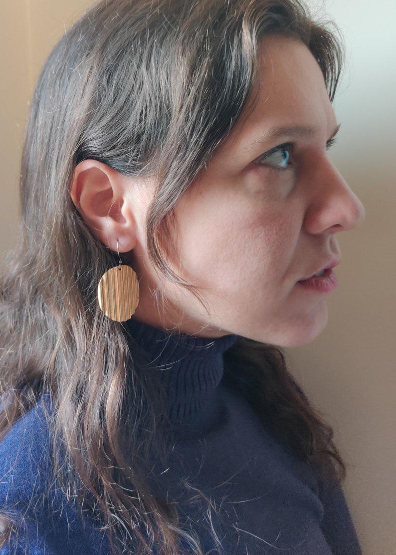 Potato Chips Brass Earrings