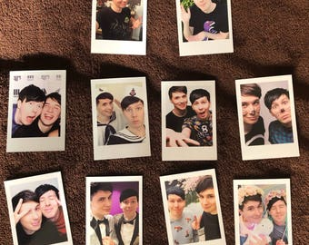 11d079b2f0e Dan and Phil Polaroids Set of 10 mini vintage style