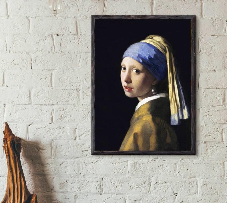 Mädchen Mit Dem Perlenohrring 1665 Von Johannes Vermeer Etsy