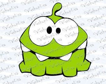 Sale! Om Nom Cut The Rope Svg Dxf Png Eps cut files for Cutting Machines Cameo or Cricut