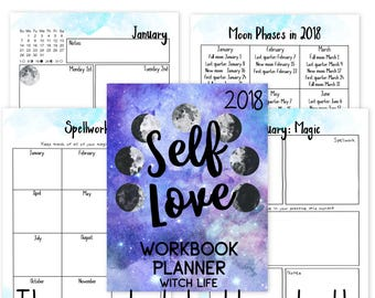 Witch Life: 2018 Self-Love Workbook Add-On   Pagan   Wicca   Planner