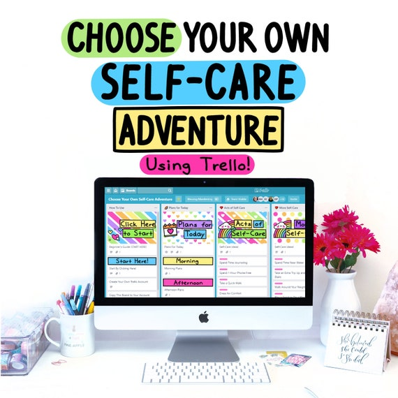 Choose Your Own Self-Care Adventure | Trello | Digital Planner | Kanban Board | Template