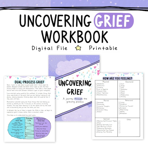 It's just a picture of Printable Grief Workbook regarding grade 3