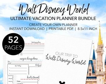 Ultimate Walt Disney World Planner - Create Your Own EDITABLE Disney World Printable Planner - INSTANT DOWNLOAD Planning Letter Size 8.5x11