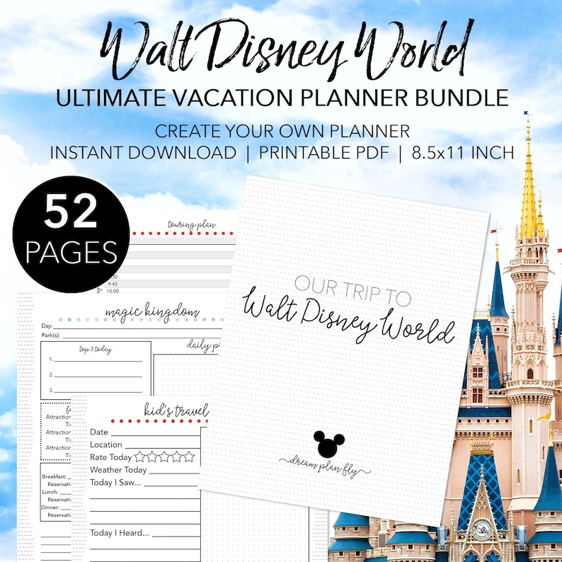 Ultimate Walt Disney World Planner Create Your Own EDITABLE image 0