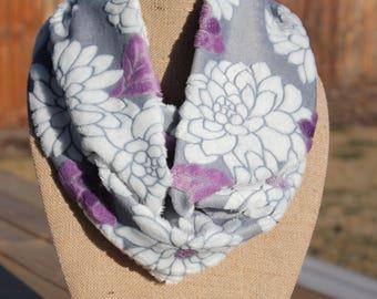 Purple flower  Infinity Scarf