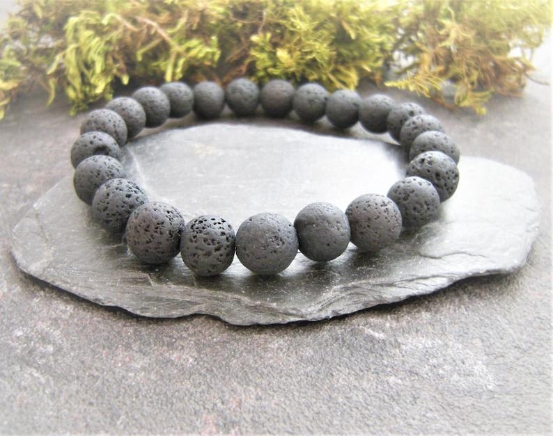 Healing bracelets Gift for him for her Black Lava bracelet Lava Bracelet Man bracelet Natural Stone Bracelet Oil diffuser bracelet