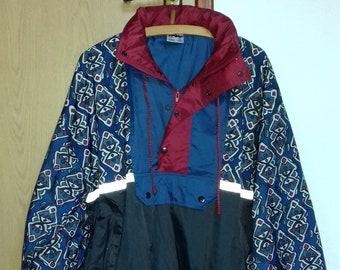 Vintage 1990s Raincoat Jacket Pullover Nylon Material | Etsy