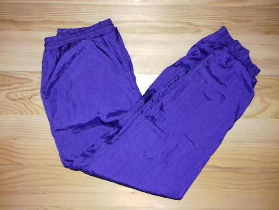 des années 1990 vintage couleur société survêtement pantalons de survêtement violet en Nylon matière Hip Hop Rap Hippie 90 s 80 s Kappa