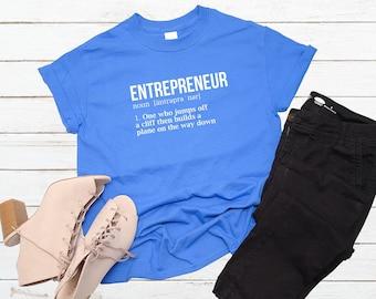 Entrepreneur Definition T-Shirt Funny Entrepreneur Motivation Success Tee | Business Owner Determination Goal Achiever Gift