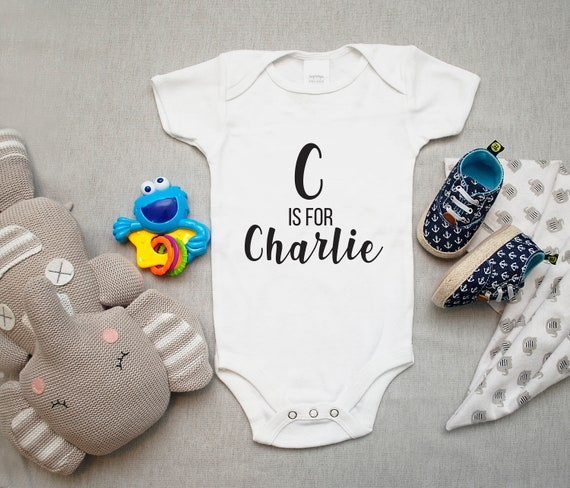 Personalized Baby Announcement Bodysuit Custom Pregnancy Gender Reveal Gift