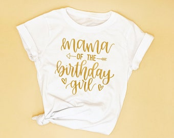 Mom Of The Birthday Girl Womens T Shirt