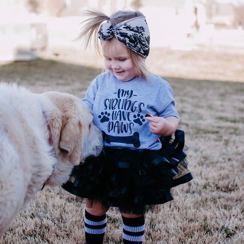 My Siblings Have Paws  Kids' Shirt for Dog Lovers  image 0