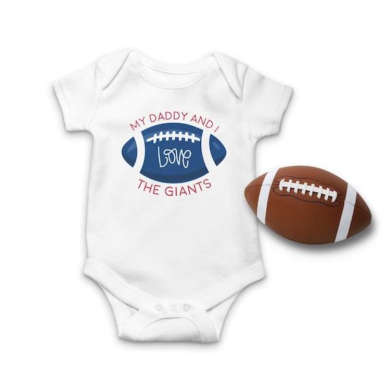 NFL New York Giants Personalised BabyGrow One Piece Bodysuit Vest Football