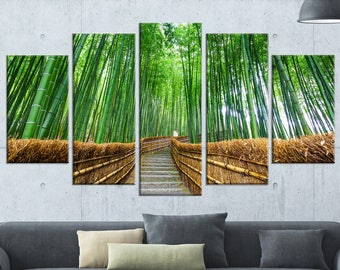 Path to Bamboo Forest in Landscape Canvas Art Print and Metal Wall Art in Different Sizes (PT8622) & Bamboo metal art | Etsy