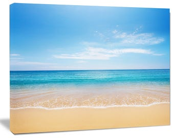 beach canvas art etsy