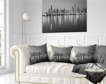 Sensational Chicago Pillow Etsy Home Interior And Landscaping Transignezvosmurscom