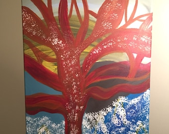 Original Acrylic Painting on Canvas - Abstract - 16x20 - Untitled