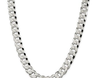 1 Foot CHN-560 1ft Antique Silver Toned Beveled Curb Link Chain