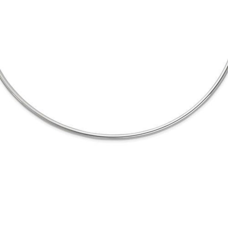 Weight: 7.2 grams Sterling Silver Rhodium-plated Neck Collar Necklace Length mm Width mm