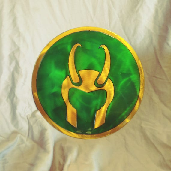 Marvel Comics Loki Metal Wall Art Etsy