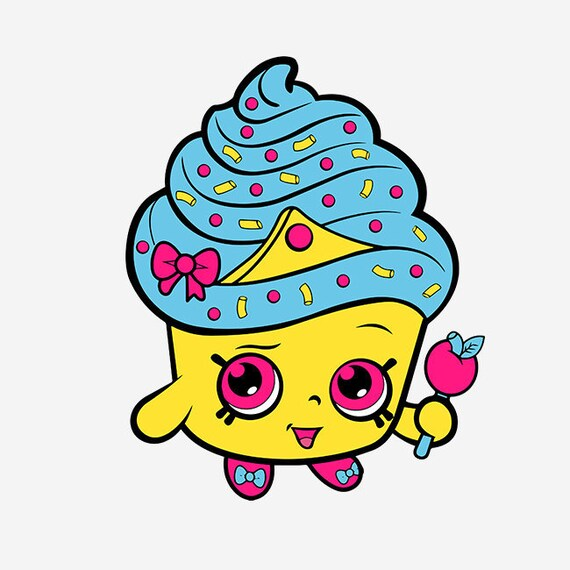 Shopkins Cupcake Queen SVG DXF EPS Png Layered Cut File Cricut
