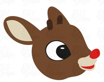 0549c91e95f1c Rudolph Red Nosed Reindeer SVG DXF File