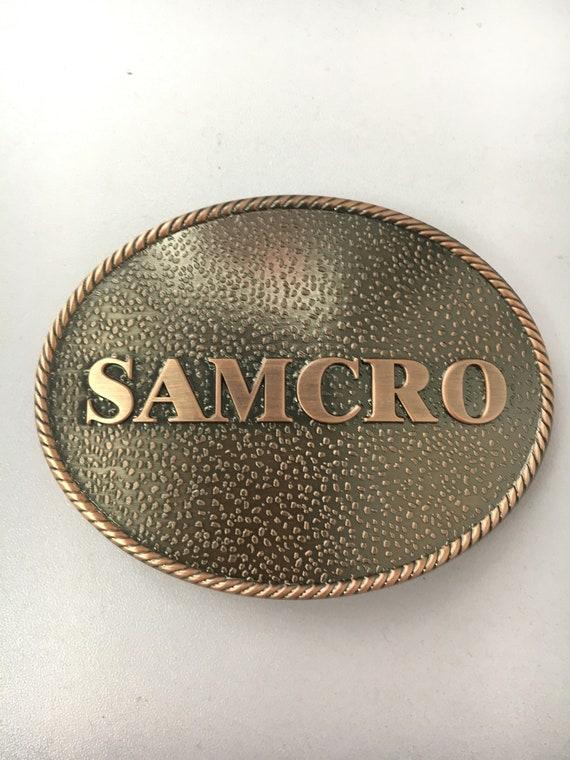 Samcro Embossed Belt Buckle
