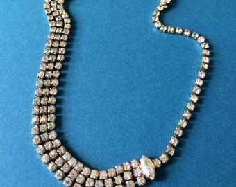 Weiss Rhinestone Necklace c1950+