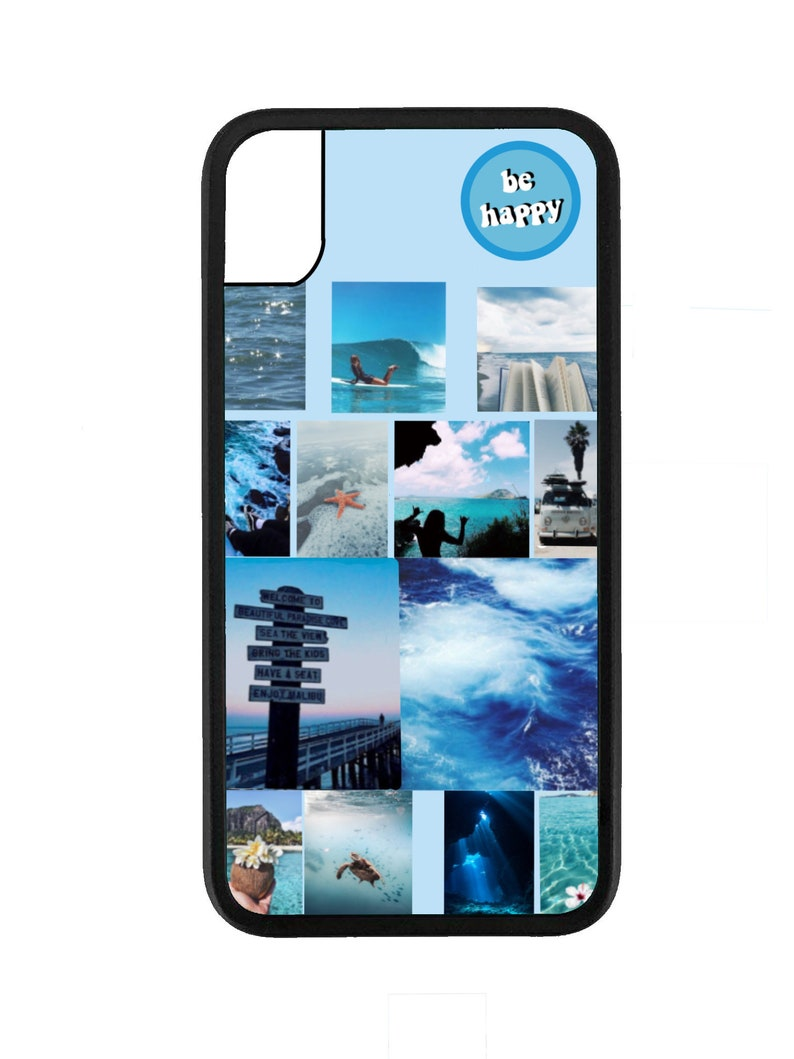 Blue Beach Aesthetic Phone Case