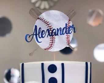 Birthday Keepsake-LT1198 Sports Theme Kids Party Baseball Birthday Topper