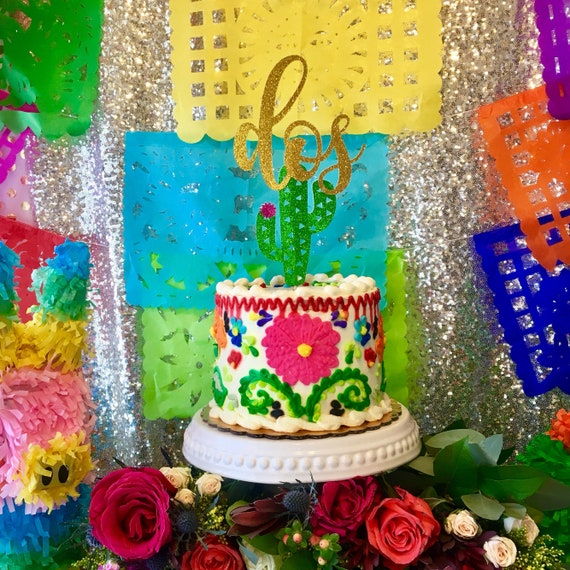 Astounding Fiesta Birthday Cake Topper Fiesta Mexicana Cake Topper 2Nd Etsy Personalised Birthday Cards Beptaeletsinfo