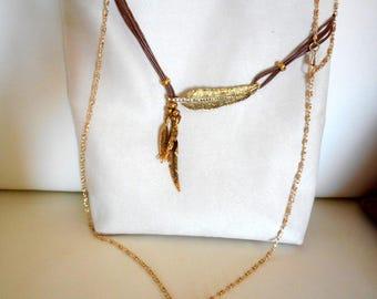 Bag has ecru bandouloiere, leather, bag, Women Fashion Leather Clutch Wallet Purse Shoulder Bag