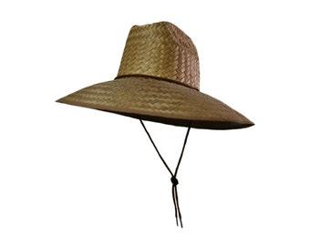 3b3ffda6801698 Beach Lifeguard Sun Hat, Straw Hat, Stay Wild Apparel