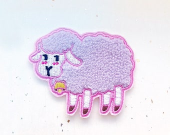 64806f4f2b46df Fluffy Sheep Embroidered Patch