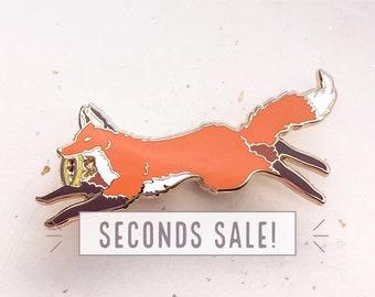 SECONDS SALE Fox Usurper Enamel Pin