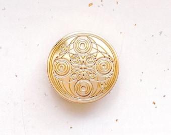 Crop Circles Gold Plated Pin