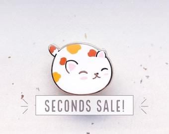 SECONDS SALE Cat Bun Enamel Pin