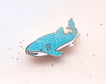 Happy Whale Shark Enamel Pin
