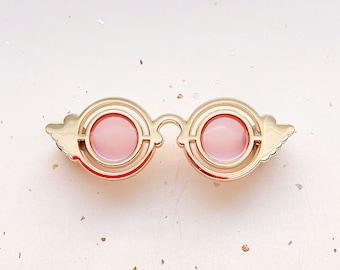 Rose Colored Glasses Transparent Enamel Pin