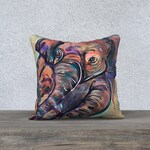 Decorative cushion cover Pillow Cover elephant nabz velvet painting reproduction deco living room bedroom kids nursery baby