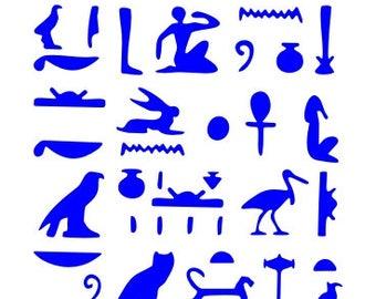 532 Hieroglyphics stencil