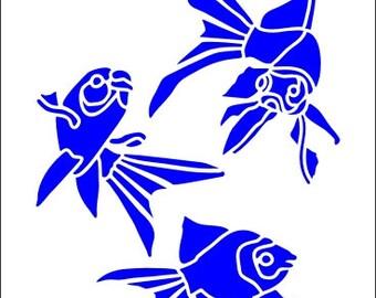 521 Goldfish stencil