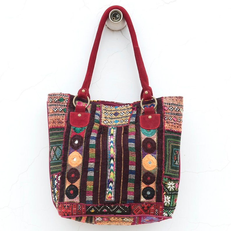 39777728f7d38 Vintage Embriodered kobiet torba na ramię worek Banjara duży